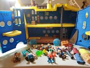Disney Jake And The Neverland Pirates Mighty Colossus Rolling Ship W/ 10 Figures