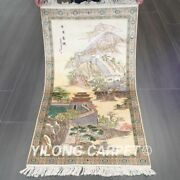 Yilong 2and039x3.8and039 The Great Wall Tapestry Hand Knotted Carpet Silk Area Rugs 040h