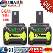 New 6.0ah 18 Volt P108 For Ryobi 18v One Plus Lithium-ion High Capacity Battery
