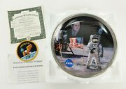1993 Bradford Exchange The Eagle Has Landed Jfk 8 Plate 3 Patch Numbered Nasa