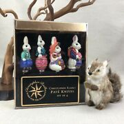Christopher Radko Vintage Pate Knives Easter Bunny Rabbit Cheese Spreaders