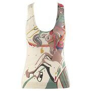 """Alexander Mcqueen S/s 2005 """"it's Only A Game"""" Carousel Horse Sleeveless Knit Top"""