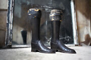 Antique Pair Of 19thc French Black Painted Pine Mannequin Legs