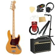 S22353 Fender Made In Japan Hybrid Ii Jazz Bass Mn Vnt Electric Bass Vox With Am