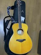 Yamaha Fs-ta Vt Trans Acoustic Guitar With Capo Tasto- Guitar Strap- Pick And Sp