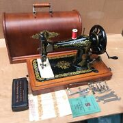 1893 Antique Singer 28 28k Hand-crank Sewing Machine With Scrolls And Roses