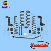 Suspension 4 Lift Kit Rancho For 2010-15 Jeep Wrangler Unlimited Sport 4wd