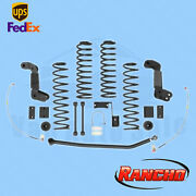Suspension 4 Lift Kit Rancho For 2007-15 Jeep Wrangler Unlimited Sahara 4wd