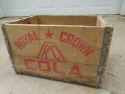 Rare Vintage Rc Royal Crown Soda Wooden Crate Or Box 12 X 11 X 19