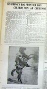 Best 2 1903 Display Newspapers W Very Early Cheyenne Wyoming Frontier Days Rodeo