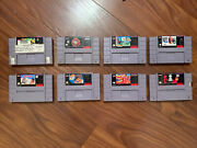 Lot Of 8 Snes Nba Jam, Mickey Mouse, Acme, Madden 95, Ranma Authentic Tested