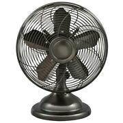 12 Inch Oscillating Antique Personal Table Fan Rustic 3-speed Rotary Switch Desk