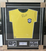 Pele Signed 1970 Retro Brazil Home Jersey In Classic Frame New Icons