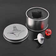 Inception Totem Zinc Accurate Spinning Top Gyro+dice+gyro Keyholder Alloy Silver