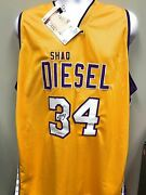 Shaquille Oand039neal Los Angeles Lakers Signed Autograph Custom Jersey Shaq Diesel E