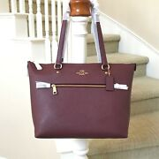 New Coach Gallery Vintage Mauve Leather Tote Bag C4665