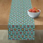 Table Runner Colorful India Indian Truck Car Oriental Decorative Cotton Sateen