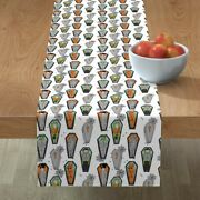 Table Runner Vampire Zombie Witch Coffin Halloween Ghost Cotton Sateen