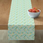 Table Runner Floral Botanical Spring Oriental Nature Cotton Sateen