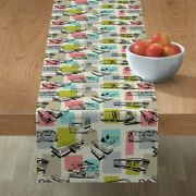 Table Runner Vintage Trailers Airstream Trailer Mobile Home Cotton Sateen