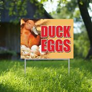 Duck Eggs Yard Sign Corrugate Plastic With H-stakes Farmers Market Stand Farm