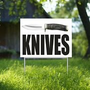 Knives Yard Sign Corrugate Plastic With H-stakes Gun Shop Pistol Buy Knife