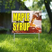 Maple Syrup Here Yard Sign Corrugate Plastic With H-stakes Pancakes Waffles