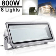 8x 800w Led Flood Light Cool White Superbright Waterproof Outdoor Security Work