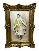 19th Century French Porcelain Hand Painted Plaque By E. La Fontaine