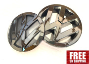 Vw Golf Mk5 Badge Glossy Black Front And Rear 2003 Andndash 2010 Free Delivery