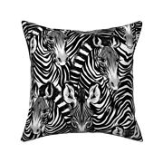 Endangered Animals Zebra Throw Pillow Cover W Optional Insert By Roostery