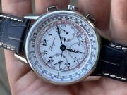 Longines L2.781.4.13.2 Heritage Tachymeter Chronograph 41mm Box Papers Tag Mint