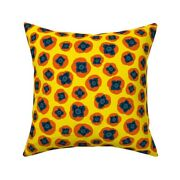 Persimmons Fruit Fruit Salad Throw Pillow Cover W Optional Insert By Roostery