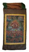 Antique Tibetan Chinese Large Thangka With Deitiies - Late 19th Century