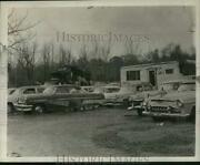 1962 Press Photo Cars Lined Up At State Auto Parts Salvage Yard In Selkirk Ny