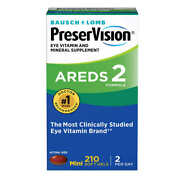 Preservision Eye Vitamin And Mineral Supplement Areds 2 Formula 210 Soft Gels 2023