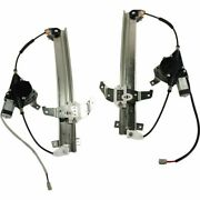 Power Window Regulator Set For 1994-1997 Lincoln Town Car Front With Motor 2pcs