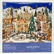 Springbok Dept 56 Christmas In The City 1000 Pc Puzzle By Hallmark 1999 Sealed