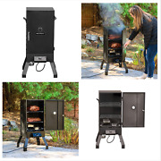 Masterbuilt Analog Electric Meat Smoker Barbecue Grill Outdoor Eating Cooking