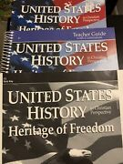 Abeka Us History Heritage Of Freedom11 Gr Student Book/ Quiz Key/teacher Guide