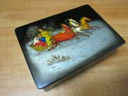 Collectible Antiques Jewelry Box Vintage Fedoskino Ussr 74 №117 Russian Painting
