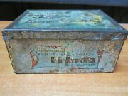 Antiques Collectible 19th Imperial Tobacco Tin Box Russian Empire
