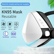 Smart Reusable Face Mask + Filtered Electric Turbine Fan Black Cycle Sports Mask