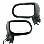 Power Mirror Set Of 2 For 06-11 Honda Civic Heated Textured Black Oe Replacement