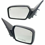 Set Of 2 Mirror Power For 2010-2012 Ford Fusion Left And Right Heated Black