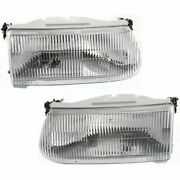 Headlight Set For 95-2001 Ford Explorer Sport Utility Left And Right Side W/ Bulb