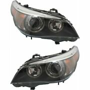 Hid Headlight Set For 2004-2007 Bmw 530i Left And Right Pair