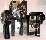Vintage 8 Mm Cine Cameras And Accessories Click Select To View Individual Items