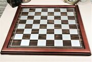 Ebros Large 19 By 19 Wooden Chess Board With Chocolate Wood Borders Gaming