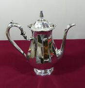International Sterling Silver Coffee Pot 10 Cup Bead And Panel Pattern Not Prelude